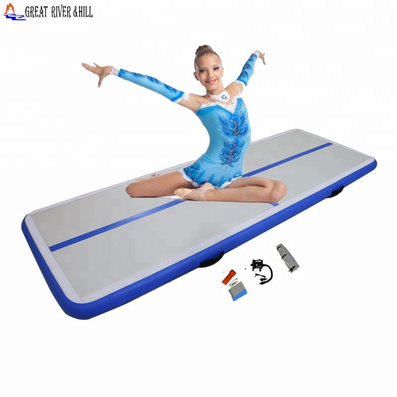 Inflatable air track folding exercise floor mat фото