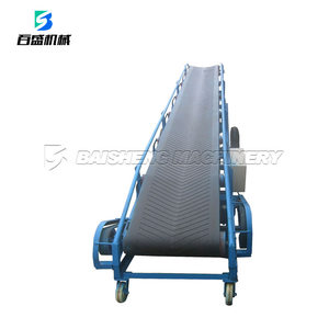 Baisheng Unloading Portable Conveyor Belt/Adjustable Height Mobile Belt Conveyor For 50kg Bags