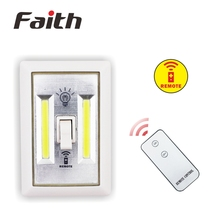 New Battery Operated Remote COB LED Switch Night Light