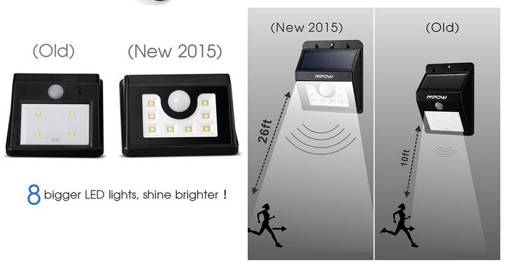 8 Led All In One Integrated Solar Light Garden Solar Motion Sensor ...