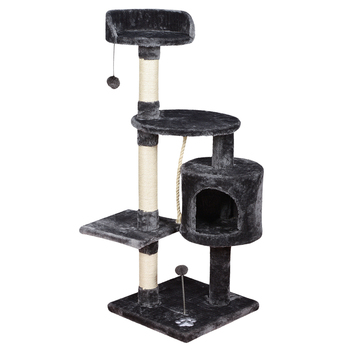 adjustable fashion black new fleece cashmere cat tower for large cats