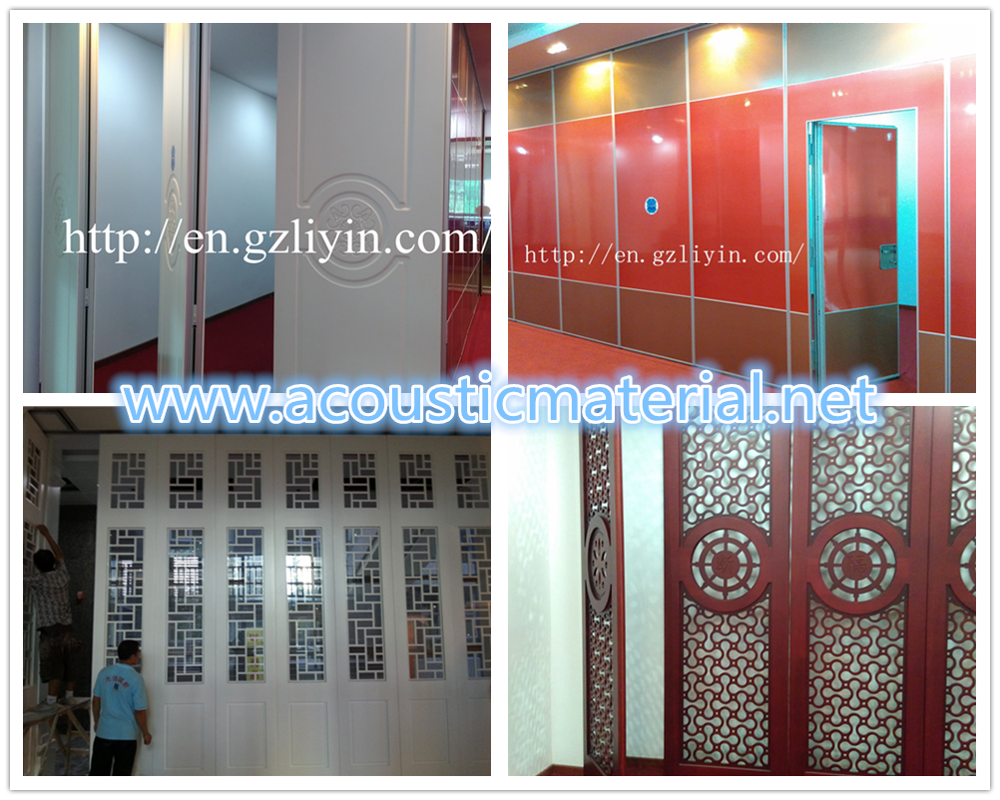 Operable wall movable partition for room dividing