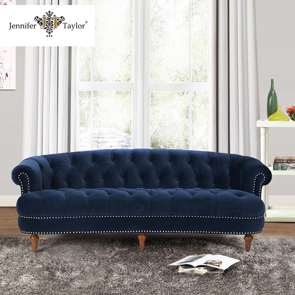 Navy Blue Color Upholstery Living Room Furniture Velvet Sofa - Buy Living  Room Sofa,Furniture Sofa,Velvet Sofa Product On Alibaba