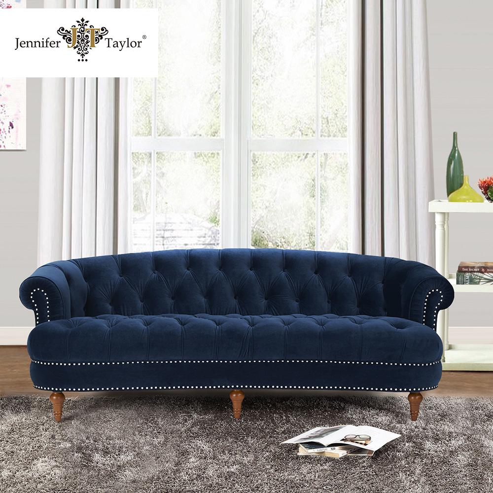 Navy Blue Color Upholstery Living Room Furniture Velvet Sofa - Buy Living  Room Sofa,Furniture Sofa,Velvet Sofa Product On Alibaba