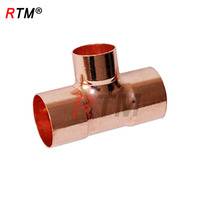 B 4 10 solder ring copper fittings equal 3 way tee copper tee