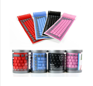 2.4g silicone rubber computer wireless touch keyboard