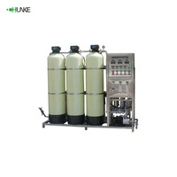 Plc Automatic Mineral Water Brands 1.5T Ro Water Purification System Withe Softener Purifier And Bottling System