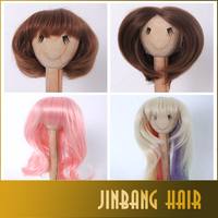 High quality cheap bjd doll wig various styles wire long wavy BJD Super Dollfile Hair Wig