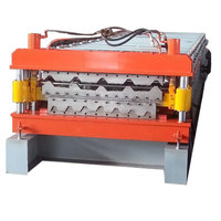 Roof Sheet Rolling Machinery Double Floor Deck Liner Galvanized Roof Tile Cold Roll Forming Machine