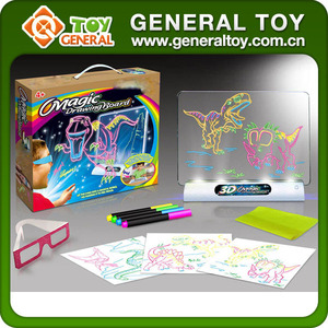 Education Dinosaur Magic 3D Drawing Board With 3D Glasses
