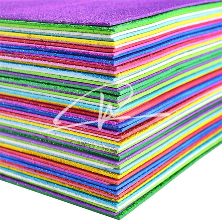 Handmade Materials For Kids Craft Color Glitter Eva Foam Sheet Buy
