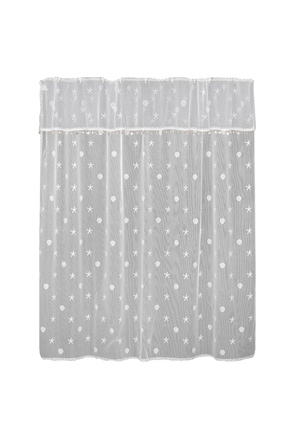 Get Quotations Heritage Lace Sand Shell Shower Curtain And Valance Set 72 By