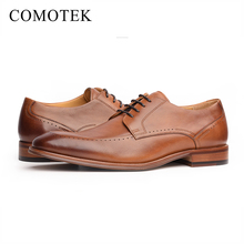 New style pointy toe business wedding dress shoes genuine leather men shoes