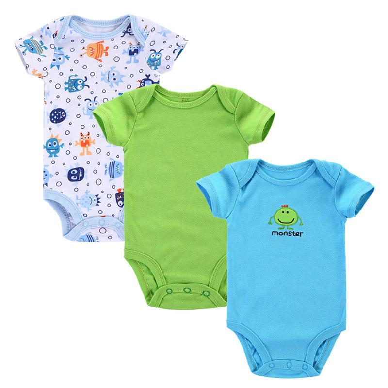 Ihram Kids For Sale Dubai: 3pcs/lot Baby Romper Summer Baby Clothing Newborn Baby Boy