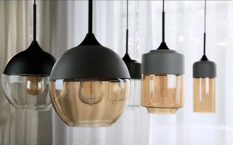 Glass Pendant Lamp For Bedroom Simple Design
