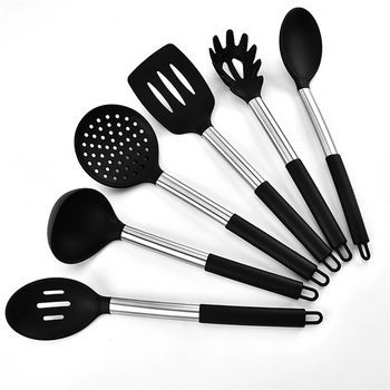 Factory Eco-friendly 6 Pieces Silicone Kitchen Utensils