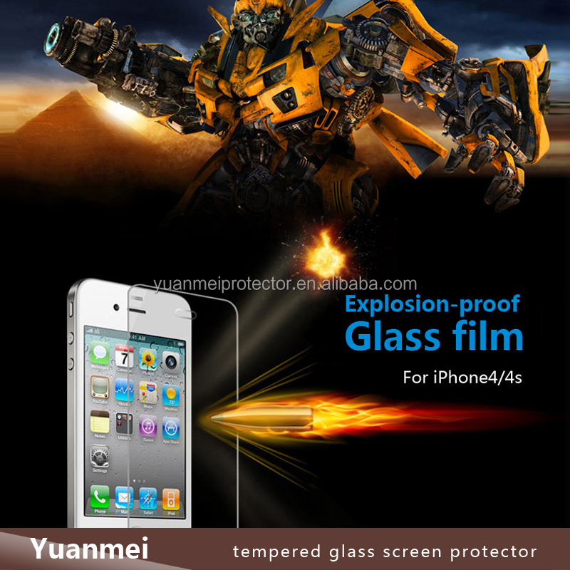 Explosion Proof Ultra Smooth 9H Anti-Peek 4 Way 360 Degree Premium Tempered Glass Privacy Screen Protector for iPhone 4/4s