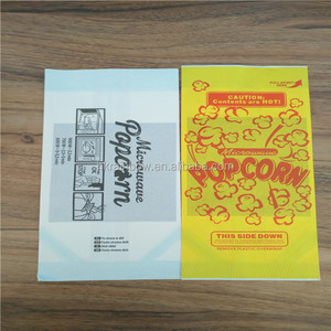 Manufacturers supply disposable microwave popcorn packaging paper bags / Custom logo print microwave popcorn bag