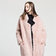 New fashion Korean style wool jacket women clothes ladies winter long fur coat