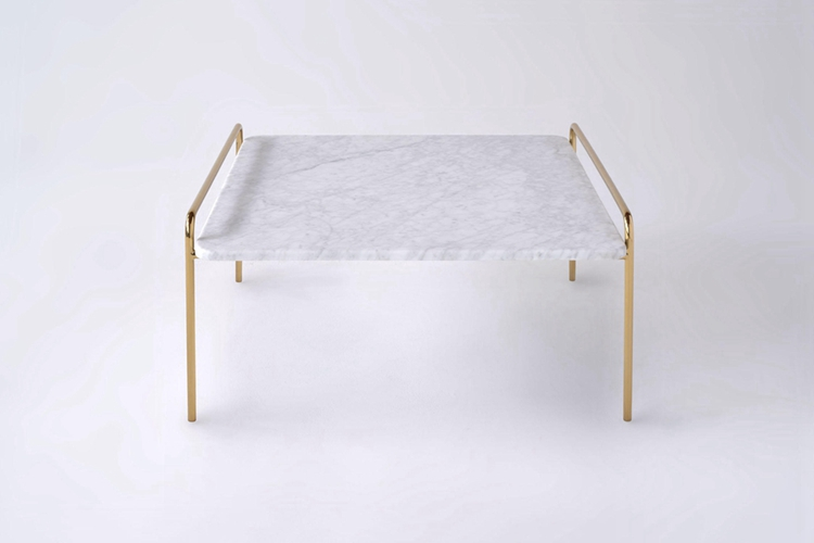 Hotel Furniture Industrial Design Gold Metail X-Base Round White Marble Top Metal Legs Coffee Table