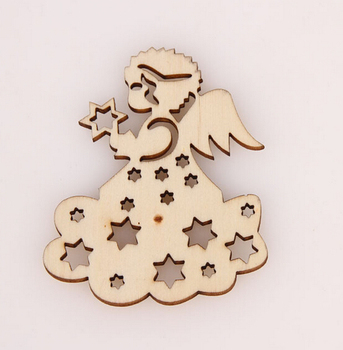 Angel Christmas Unfinished Wood Shapes Craft Supplies Laser Cut Outs Diy -  Buy Wooden Angel,Christmas Decoration Cut Out,Wood Cutouts Angel Product on