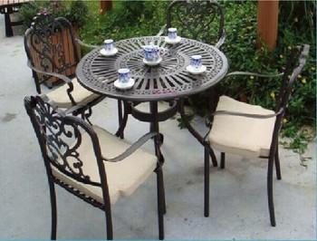 En Fonte Ronde En Aluminium Table De Pique-nique Et Chaise Meubles ...