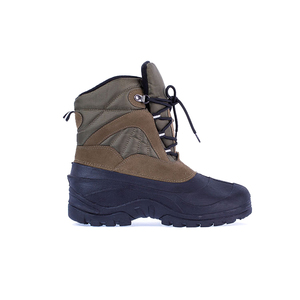 Well Sale Item Pu Leather Safety Rubber Gum Boots Shoes Men