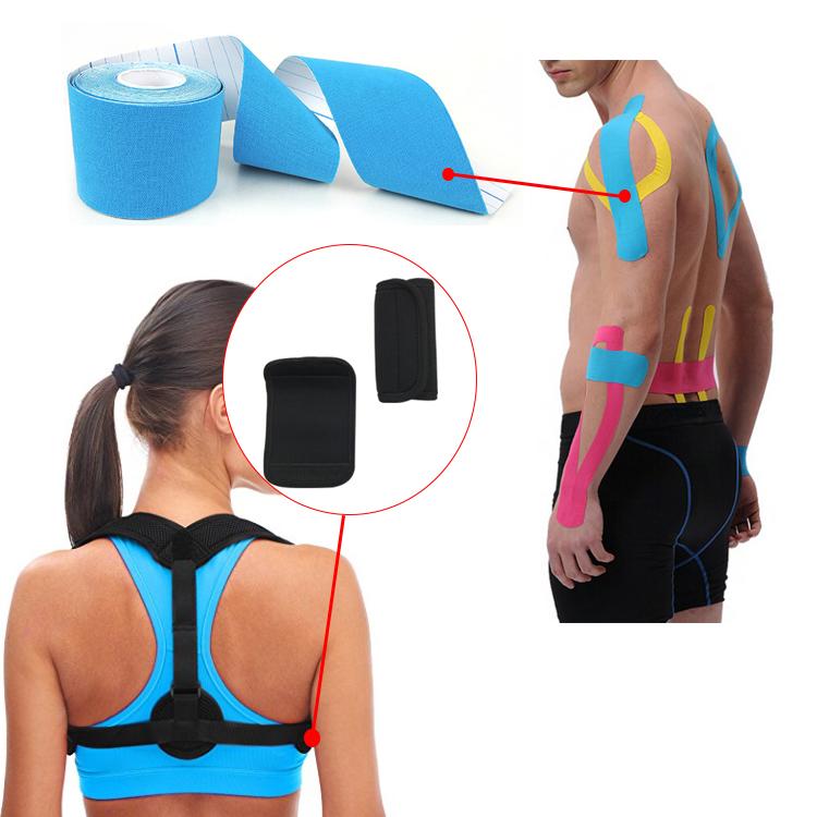 2019 Hot Sale Posture Corrector for Woman Men Shoulder Back Clavicle Support Brace, Black or customized color