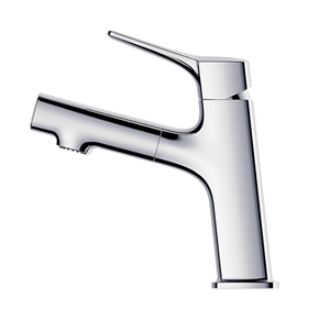 HUIDA new design Pull-out spout brass single hole lavatory faucet tap