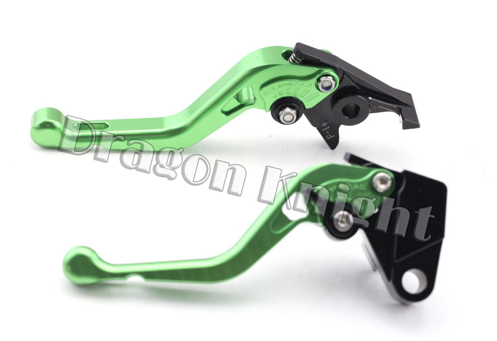 Motocycle Accessories For KAWASAKI ZXR400 ZR-X 400 ZR400X ZEPHYR Short Brake Clutch Levers Green