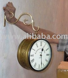 "Antique Double sided 8"" Wall clock"