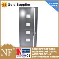 wood clad aluminium double entry storm doors