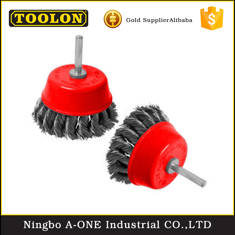 Customized made 65-150mm sweeper heavy duty cup wheel wire brush for rugged
