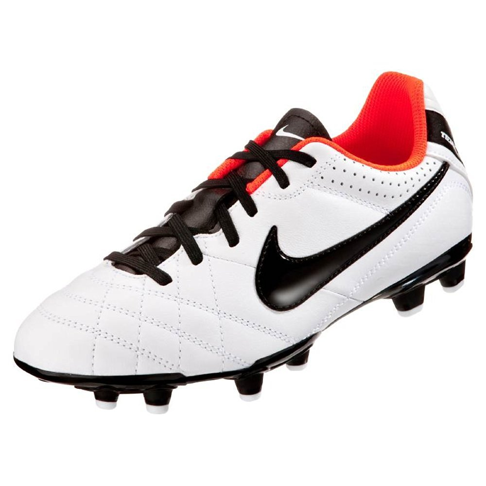 Nike Jr Tiempo Soccer Cleats Natural IV Leather FG White Black 509081 108  (6) 27984ef5e17af