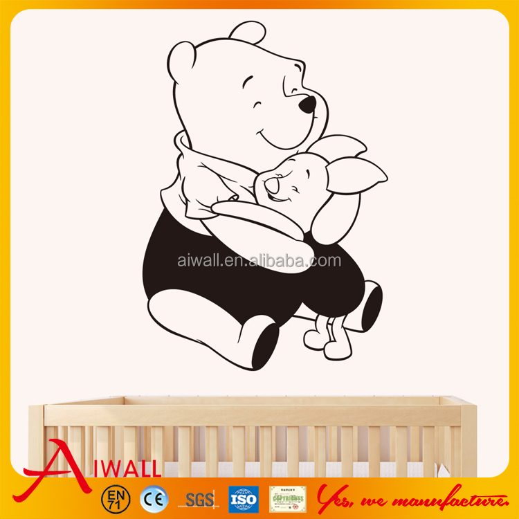 8230 Teddy Wall Stickers Cartoon Animals Bear Decals Home Decor