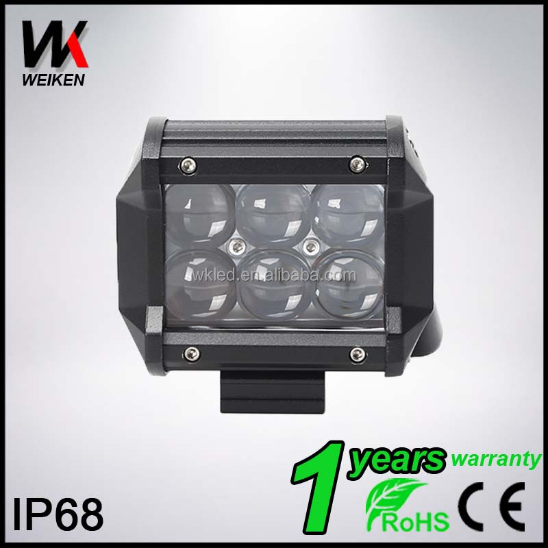 "WEIKEN 18w 4"" 4D reflector 12v led work light, automotive, motorcycles led working light lamp"