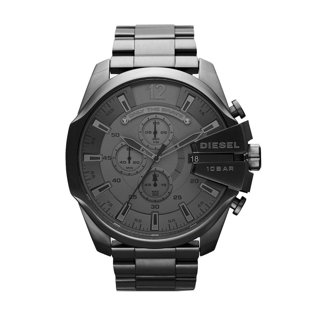67bc65193fb9 Get Quotations · Diesel Men s DZ4282 Mega Chief Gunmetal Watch
