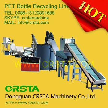 PET recycling line, PET bottle recycling machine for PSF