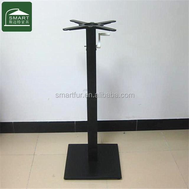 Promotional outdoor cafe table base with adjustable height