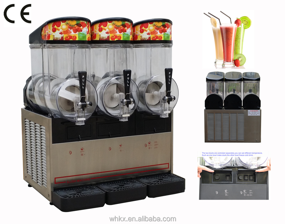 CHINA Tripl Bowls Slush machine ( HT3ML /CE 3 Flavors )