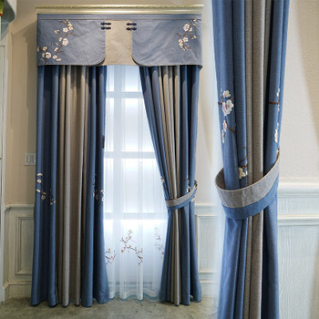 Factory custom Living Room Luxury Embroidery European Blackout Curtains and drapes