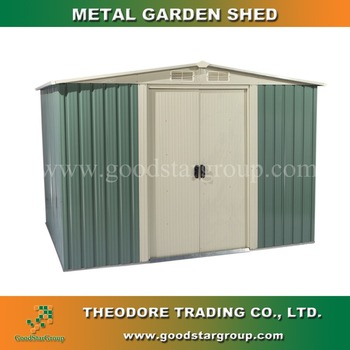 Garden Storage Metal Shed 10x8 Ft Gable Roof With Optional Colors Outdoor  Steel Portable Building