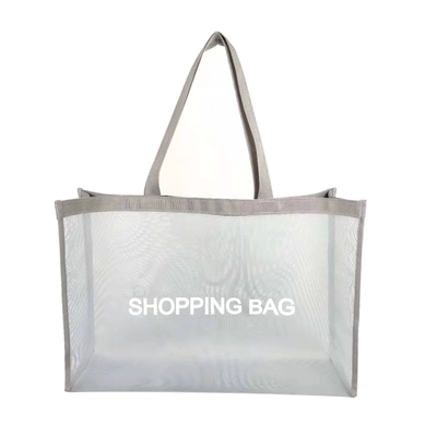 Easy Carring Shopping Bag Black Eco-friendly Reusable Tote Bag Nylon Mesh Shopping Bag for Women