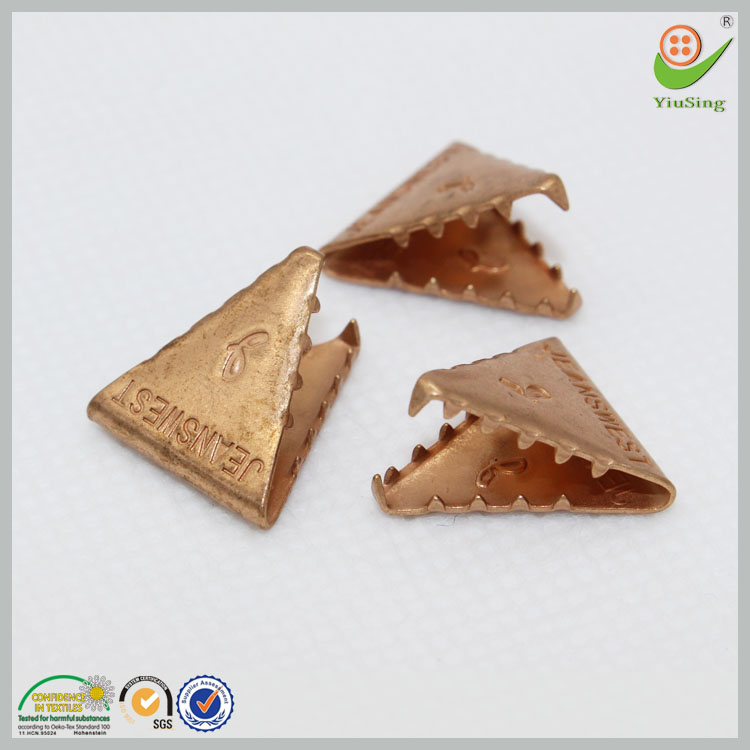 triangle antique copper metal small metal clips for jeans
