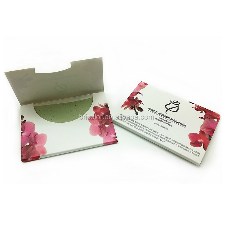Paper Box Packing Green Tea oil Control Blotting Tissue Oil Absorbing Facial Tissue