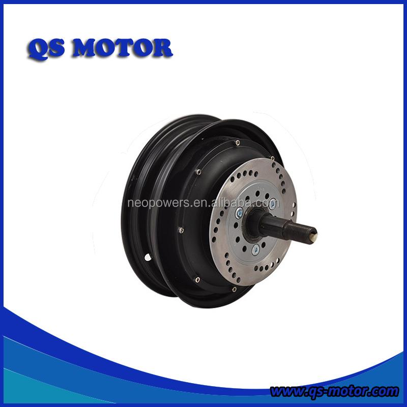 QS Motor 10 inch 3kw 72V( 48-96V ) Single Shaft In-Wheel Hub Motor(50H) For E-Scooter V2 Type, Black or silver