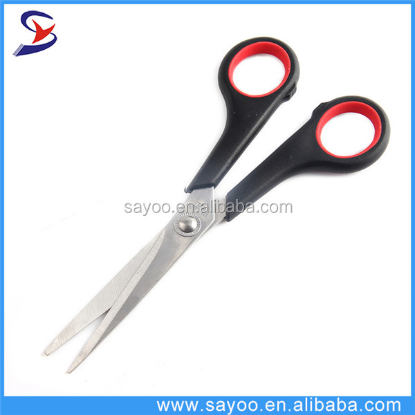Wholesale stainless steel scissors with plastic handle
