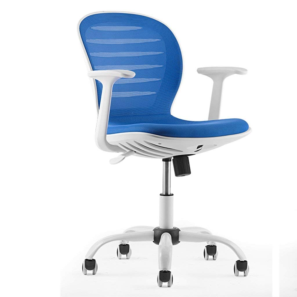 Wei Hong Home Home Office Chairs Computer Chairs Swivel Chairs Barber Chairs Beauty Chairs Pedal Chairs Breakfast Chairs Adjustable Height 360° Rotation (Color : Blue, Size : C.)