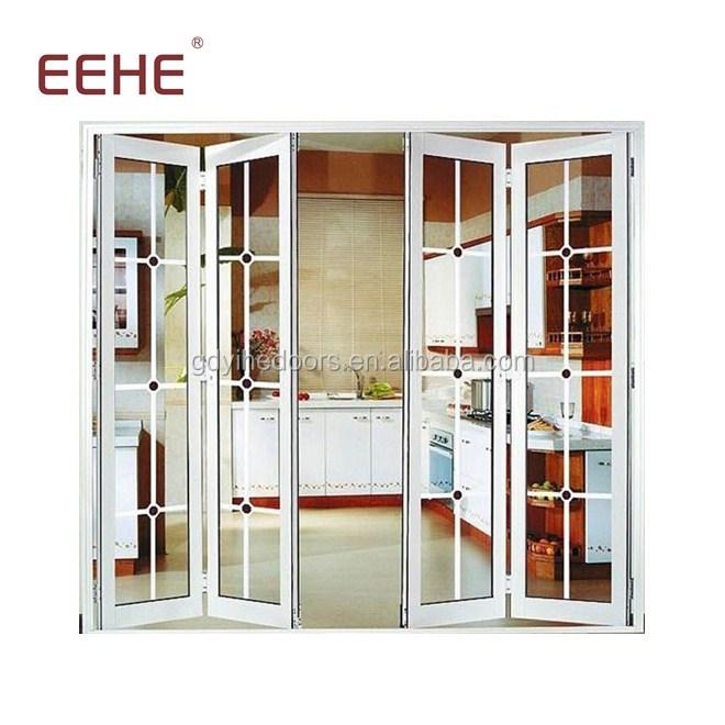 อลูมิเนียมพับประตูเลื่อนกระจกสำหรับ villa dining room