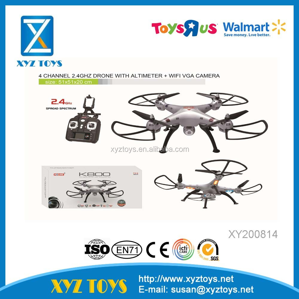 K800C- HW New R/C outdoor 4 channel 2.4GHz Drone with Gyro + WIFI VGA camera quadrocopter toys